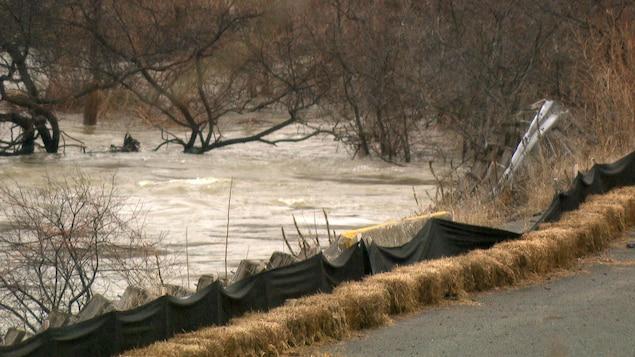La rivière des Outaouais lors de la crue printanière de 2019.