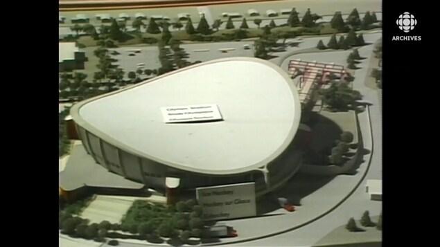 Maquette du futur complexe olympique de Calgary.