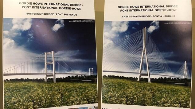 Les partenaires pourront soumettre des propositions pour les deux types de pont.