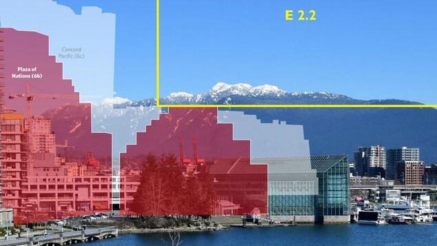 Un plan de cône de vue à Vancouver.