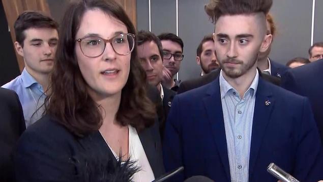 La présidente du Comité jeunesse du PQ, Frédérique St-Jean
