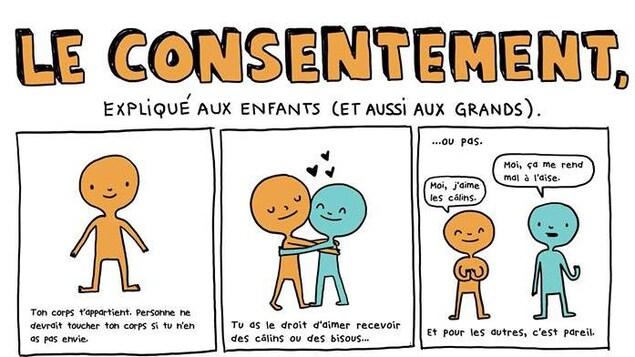 Bande dessinée sur la notion de consentement.