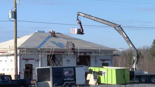 Un chantier résidentiel de Sainte-Marie.