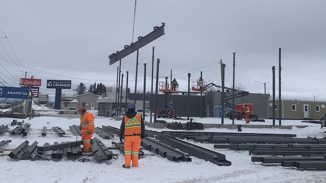 Un chantier de construction à Saguenay.