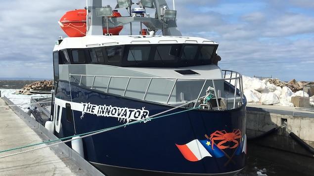 Ce crabier est le huitième bateau réalisé par Construction navale atlantique, à Bas-Caraquet