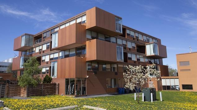 L'immeuble, qui comporte plusieurs unités.