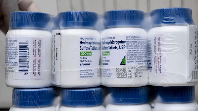 Des caisse de comprimés d'hydroxychloroquine.
