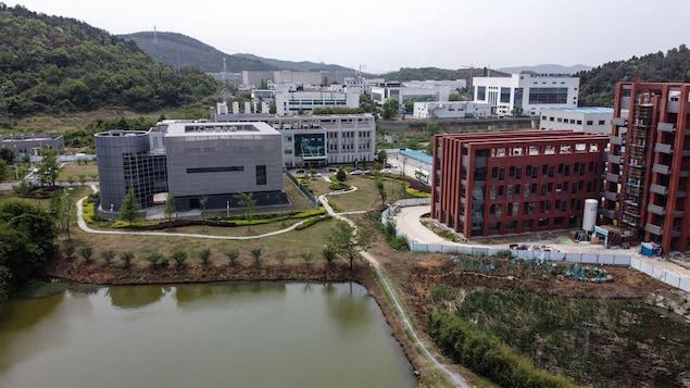 Vue aérienne de l'Institut de virologie de Wuhan, en Chine.