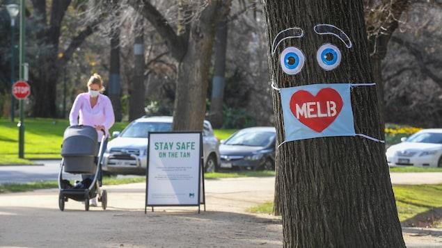 Un parc à Melbourne.