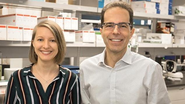 La doctorante Julia Niessl et le chercheur Daniel E. Kaufmann.