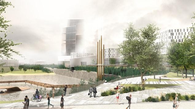 Croquis d'un futur Carré Laval.
