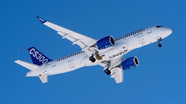 Un appareil CS300 de Bombardier