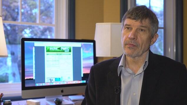 Le professeur en agroéconomie à l'Université Laval, Daniel-Mercier Gouin.