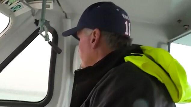 Danny à bord de son bateau