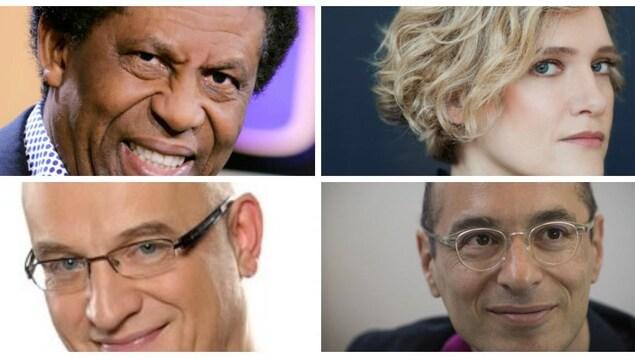 Les quatre auteurs sont réunis sur la même photo.