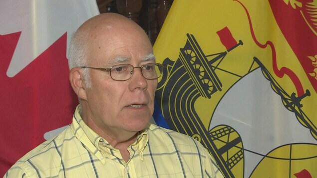 David Coon, chef du Parti vert du Nouveau-Brunswick, le 11 août 2020.