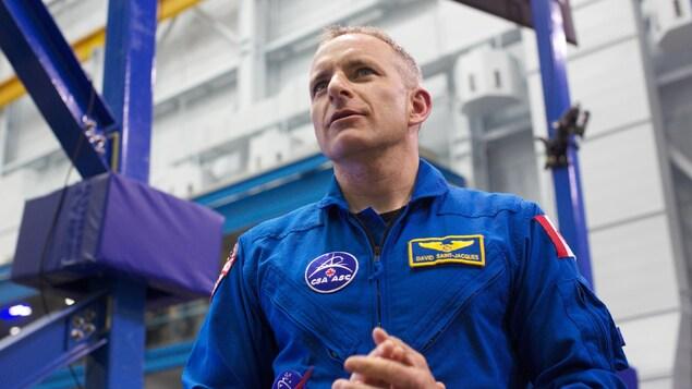 L'astronaute canadien David Saint-Jacques.
