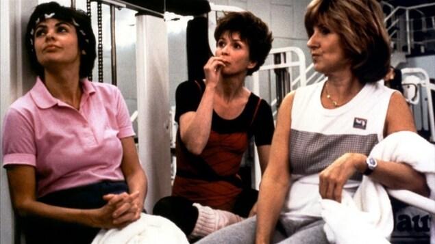 Louise Portal, Dorothée Berryman et Dominique Michel dans une scène tirée du film «Le déclin de l'empire américain»