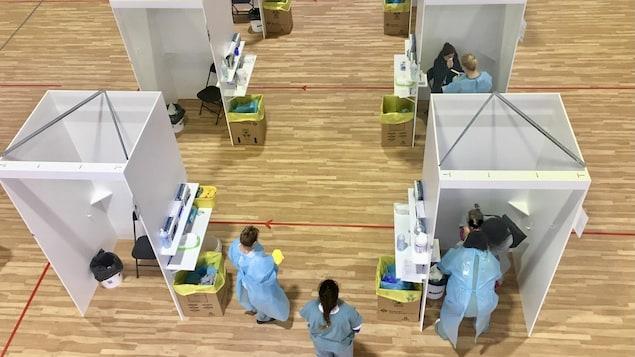 La nouvelle clinique de dépistage massif de Trois-Rivières.