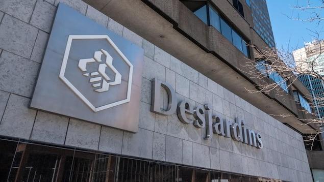 La devanture d'une succursale du Mouvement Desjardins.