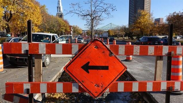 Déviation dans les rues de Montréal