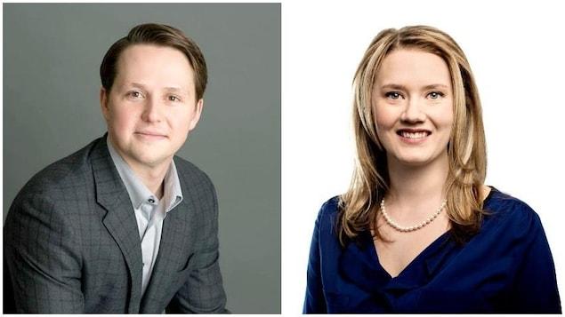 À gauche, il y a le portrait de Devin Dreeshen  et à droite celui de Laila Goodridge.