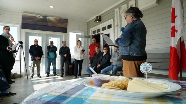 La ministre du Revenu national et députée de Gaspésie-Les Îles, Diane Lebouthillier, venue annoncer les subventions fédérales