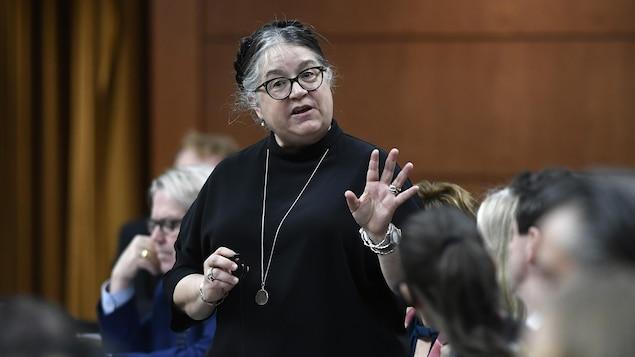 Mme Lebouthillier en avril 2019 à la Chambres des communes.