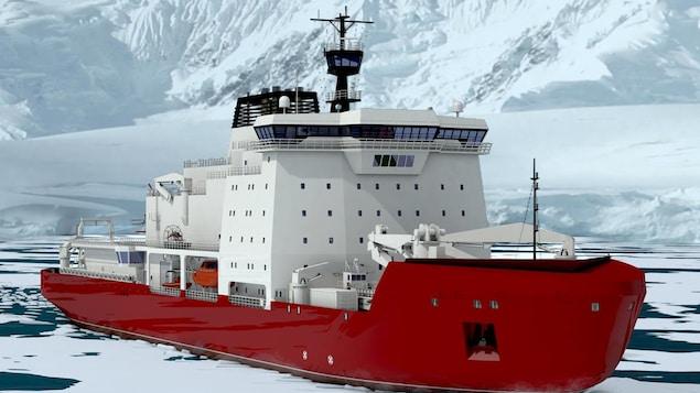 Le futur brise-glace polaire du Canada.