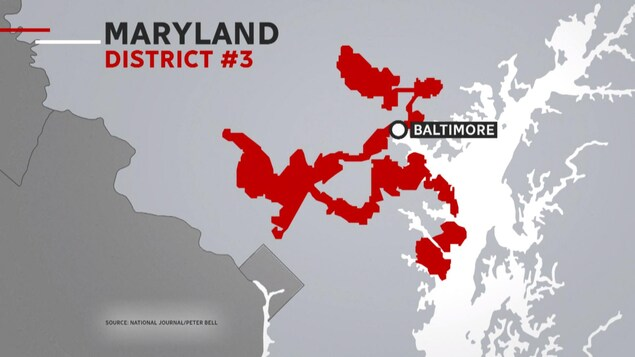 Limite du district 3 au Maryland