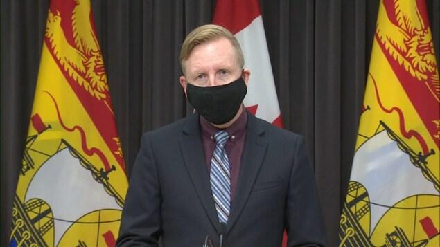 Le ministre de l'Éducation du Nouveau-Brunswick Dominic Cardy.