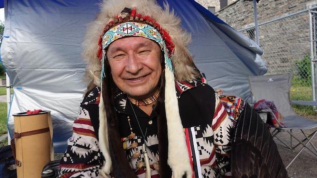 Le chef spirituel algonquin Dominique Rankin.
