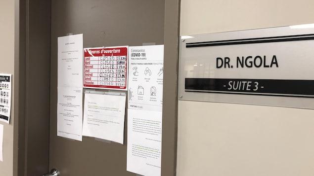 Le bureau du Dr Jean-Robert Ngola, à Campbellton.