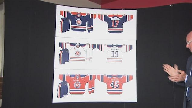 Les joueurs arboreront les couleurs des Oilers d'Edmonton et des armoiries de la Ville.
