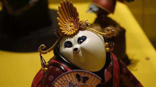 Une figurine moulée pour le film Kung Fu Panda.