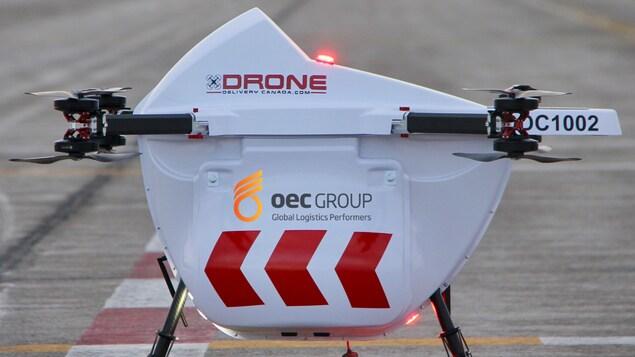 Le drone Sparrow de l'entreprise Drone Delivery Canada.
