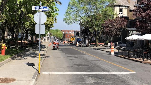 La rue Hériot, au centre-ville de Drummondville.