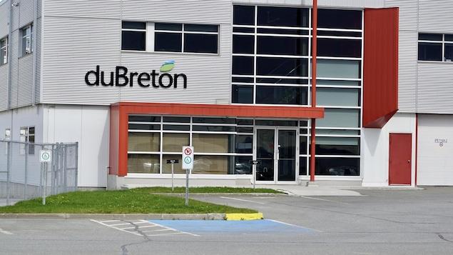 L'extérieur de l'usine de Viandes du Breton, à Rivière-du-Loup.