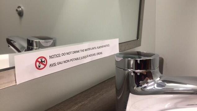 Des avis de ne pas consommer l'eau ont été affichés à proximité de tous les robinets au Grace Home de Huntingville