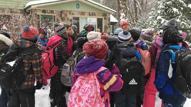 Des élèves de l'école Bois-de-Liesse