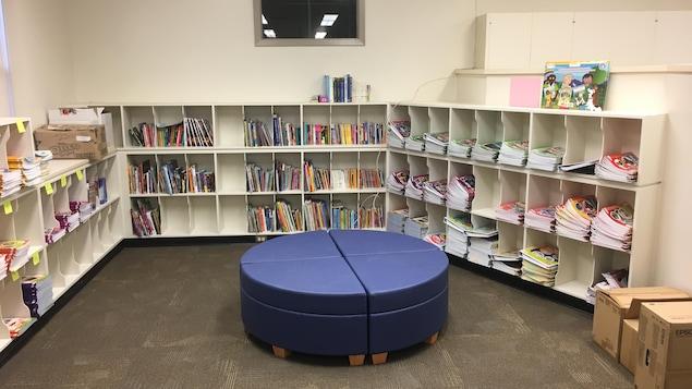 Une partie de la bibliothèque de l'École du parc