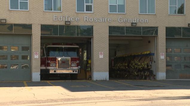 Le garage de l'édifice Rosaire-Gendron.