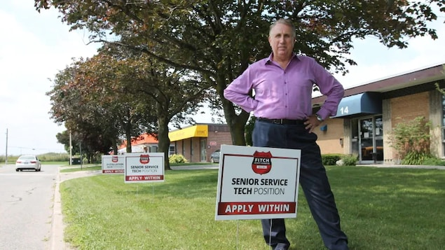Edward Fitchett, the president of Fitch Security Integration in Toronto, urgently needs to recruit technicians. His company is one of many using signing bonuses to attract workers.