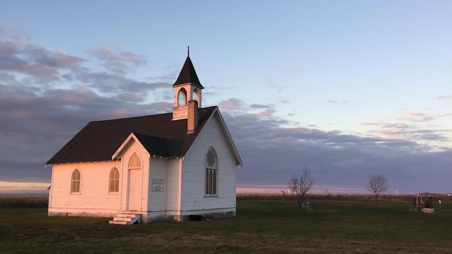 L'église Union Point United Church et son cimetière.