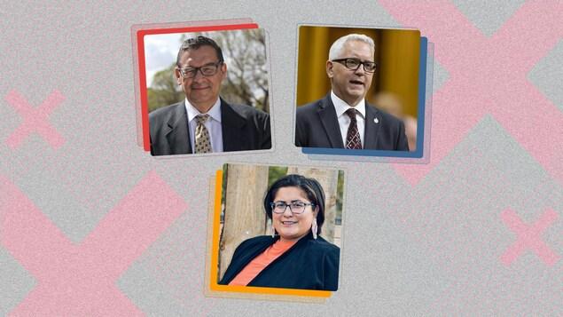 Montage photo des candidats qui se présentent dans la circonscription de Desnethé–Missinippi–Churchill River en Saskatchewan.