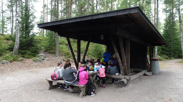 Une classe en forêt