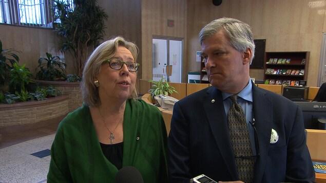 Elizabeth May et Daniel Green du Parti vert du Canada
