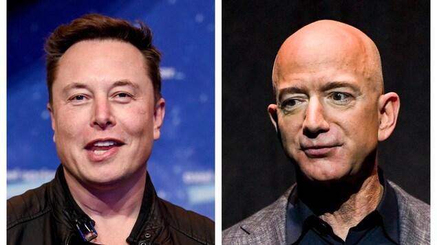 Elon Musk et Jeff Bezos.