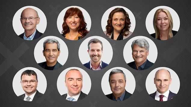 Les 11 élus de la région de Québec.