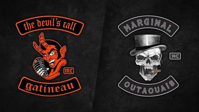 Les logos des groupes The Devil's Call Gatineau et Marginal Outaouais.